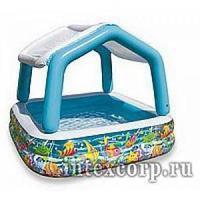 Надувной детский бассейн с тентом