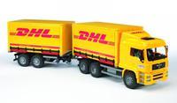 Большой грузовик с автоприцепом MAN «DHL»
