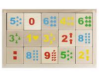 """Деревянные кубики """"Математика"""" неокрашенные 15 штук"""