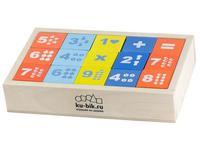 """Деревянные кубики """"Математика"""" окрашенные 15 штук"""