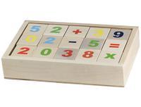 """Деревянные кубики """"Цифры"""" неокрашенные 15 штук"""