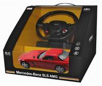 Дет. машина радиоупр. Mercedes-Benz SLS (с рулём управления) 1:14