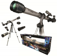 Телескоп (увеличение 525х, диаметр объектива 50мм) с широкоугольным окуляром на алюминиевом штативе