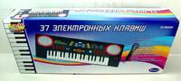 Синтезатор черный 37 клавиш с микроф. эл/мех