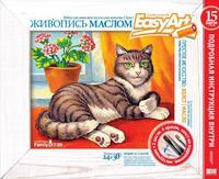 Набор детский для живописи маслом Кошка на Окошке