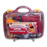 """Набор детскийинструментов """"Помогаю Папе"""" в чемодане, 20 предм. 33х12х27 см"""