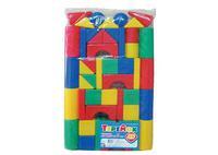 Детский пластмас. строительный набор Теремок 49 элементов в пакете