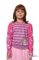 Дет. футболка для девочки с рисунком матрешки