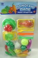 """Детский игрушечный набор продуктов """"Помогаю Маме"""", с посудой, 22 пр."""