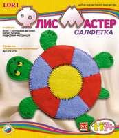 """Набор детский для изготовления салфетки из флиса """"Разноцветная черепашка"""""""