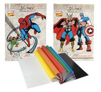"Бумага цветная ""Marvel comics"" (мелованная, 8 цв./16 л., А4)"