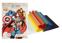"Бумага цветная ""Marvel comics"" (мелованная, двусторонняя, 8 цв./16 л., А4)"