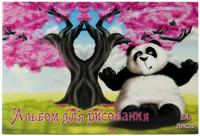 """Альбом для рисования """"Веселая панда"""" (24 л., А4)"""