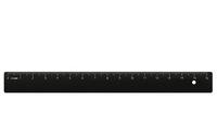 Линейка (16 см, черная)