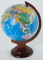 Глобус политический (d=210 мм, рельефный, на деревян. подставке)