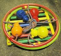 Качели детские подвесные (круглые с шарами)