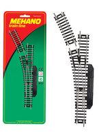 """Стрелка левая (ручное переключение) для железной дороги """"Mehano"""" (F282)"""