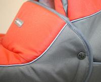 """Дет. люлька закрытая с подголовником """"Оранжевое настроение"""" (в комплекте с сумкой)"""