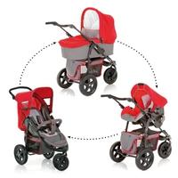"""Дет. коляска """"три в одном"""" Viper Trioset V-12 (цвет chrcoal/red)"""