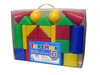 Детский пластмас. строительный набор Теремок 23 элемента в пакете