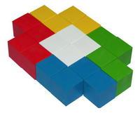 Кубики цветные деревянные