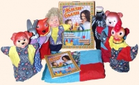 """Детский кукольный театр """"Жили-были"""" (7 персонажей) со шторкой"""