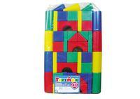 Детский пластмас. строительный набор Теремок 43 элемента в пакете