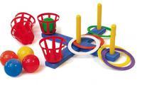 Кольцеброс крестовой (с корзиной и мячами)