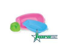 Кукольная ванна мал. (розовая)