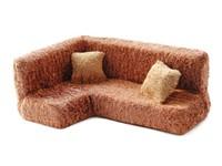 Мягкая мебель для кукол Угловой диван и 2 подушки (в пакете)