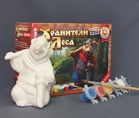 "Раскраска объемная ""Медведь с дубиной"" (Хранители леса)"