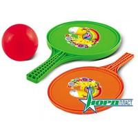 Детский игровой набор детский №71: две ракетки и мяч (13 см)