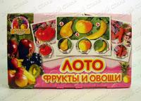 """Детское лото """"Фрукты и овощи"""""""