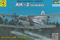 """Модель сборная """"Самолет АН-2 на лыжах"""" 1:72"""