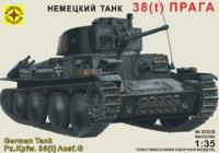 """Модель сборная """"Немецкий танк 38(t) """"Прага"""" 1:35"""