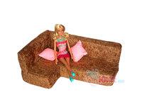 Мягкая мебель для кукол Угловой диван и 2 подушки (в сумке)