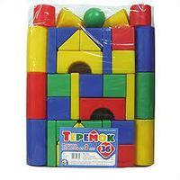 Детский пластмас. строительный набор Теремок 36 элементов в пакете