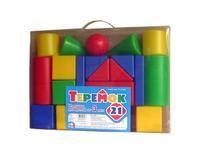 Детский пластмас. строительный набор Теремок 21 элемент в пакете