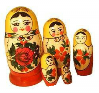 "Сувенир матрешка ""Россияночка"" (5 кукол большого размера)"