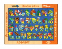 """Игра из дерева """"Веселая азбука в картинках"""""""